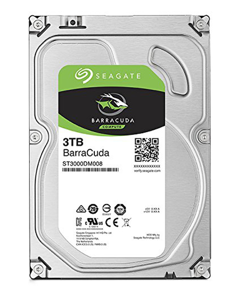 Seagate 3TB Barracuda35 SATA Hard Drive 7200RPM 64MB